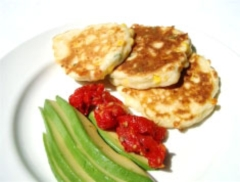 Corn and Cheese Pikelets