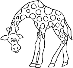dinosaur giraffe - Colour In Picture